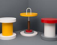 Circular Table & Stools