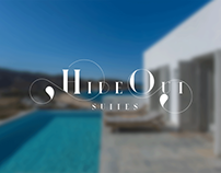 HideOut Suites Brand Identity (Ios Island)
