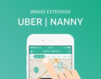 UBER NANNY brand extension design