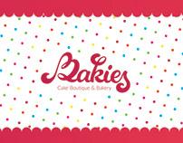 Bakies creative logo and brand identity design