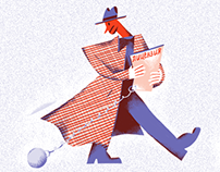Illustrations for RBC.Style about modern detectives