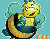 Cute Bee Character for Baby Leapfrog