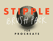 "Free ""Stipple Brush Pack"" for Procreate"