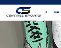 Central Sports - Responsive Website