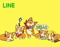 Cute Corgi - Stickers for LINE