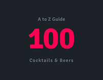 A-Z Guide to a 100 Beers & Cocktails.