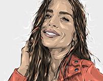 Adobe DRAW : Unknown portrait series - Grace