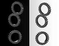 3D metallic gear wheels