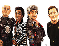 The crew of Red Dwarf