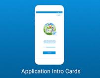 Application Intro Screens