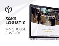 SAKS Logistic. Сайт для складской фирмы.