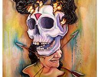 """""""Edicto de la nostalgia"""" retrato al oleo  sobre tela"""
