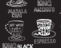 Coffee menu for cafe in India