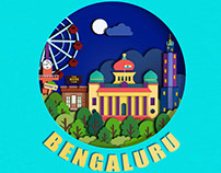 Paper Cutting Art - Namma Bengaluru