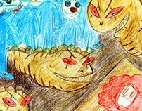 Liggotti's The Last Feast of Harlequin Illustrations