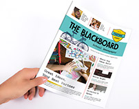 The Blackboard, School Newspaper Template