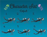 Diver Dash Character Art