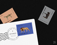 African Animal Stamp