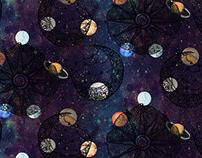 Coleção cósmica - mobília e papelaria