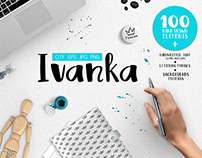 Ivanka Font • Patterns • Vector elements