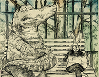 The alligator and the rabbit