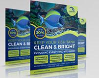 Aquarium Flyer - Fish Tank Flyer Template