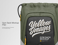 Gym Sack PSD Mockup