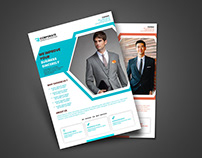 Corporate Flyer with 2 Available Color