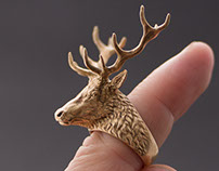 Deer Head Ring. Jewelry