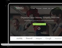 Finance Web portal, Web application,