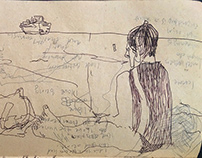 Woman on Beach (sketchbook page)