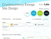 Cryptocurrence Exange UI/UX