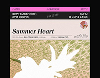 Concert Poster for Summer Heart