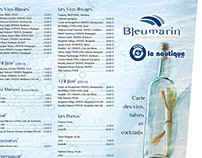 Menu, Le Bleumarin, restaurant du Nautique