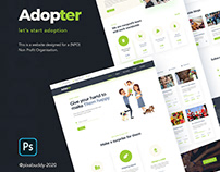 Adopter Website concept