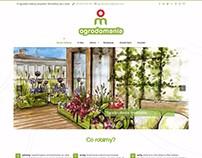 Projekt strony - Ogrodomania.info.pl