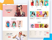Silon – One Page E-Commerce PSD & HTML Template (Free)