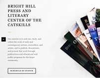 Bright Hill Press & Literary Center Website Design