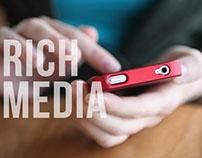 Rich Media Piezas interactivas para mobile.