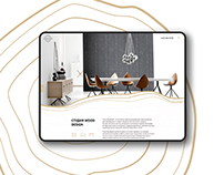 Furniture company Wood Design studio / website