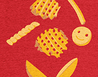 Eyes on the fries
