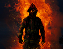 "Joe Hill ""Fireman"" ( book cover art )"