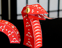 Paper Toy Snake for the Chinese New Year 2013