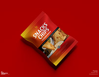 Free Snacks Packaging Mockup