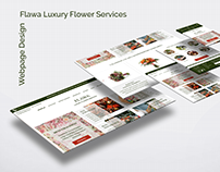 UX/UI Design for Flawa Luxury Flower Services