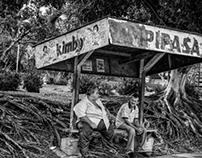 Bus stop, San Jose Costa Rica