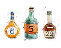 Watercolour Kitchen Calendar