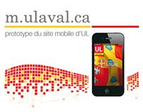 Site mobile de l'Université Laval - prototype