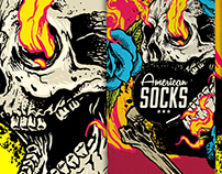 FIREBALL - Illustration for American Socks - BARCELONA
