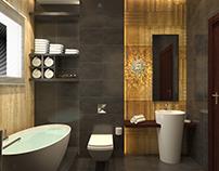 Bathroom design modern style at con-creative office